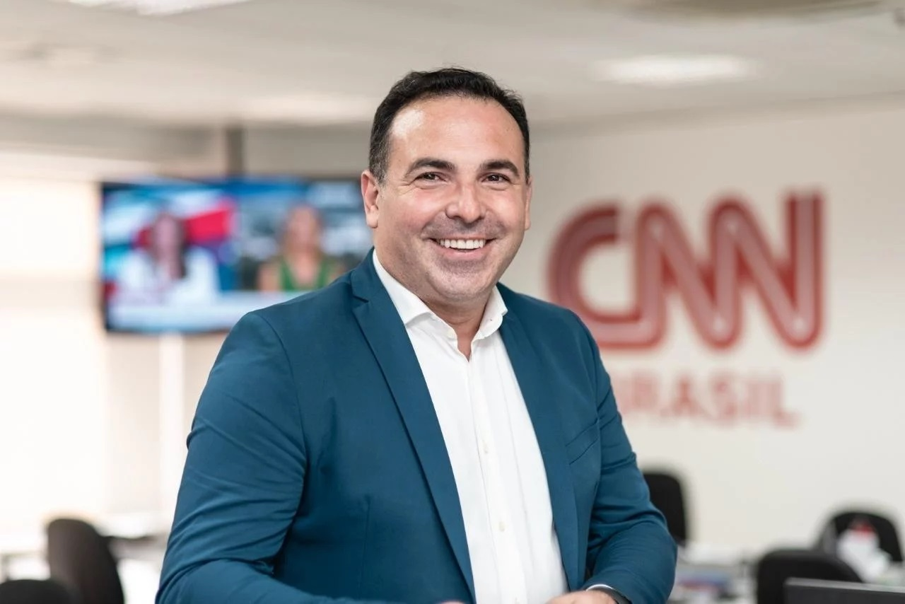 O jornalista na CNN Brasil (Foto: reprodução/CNN)