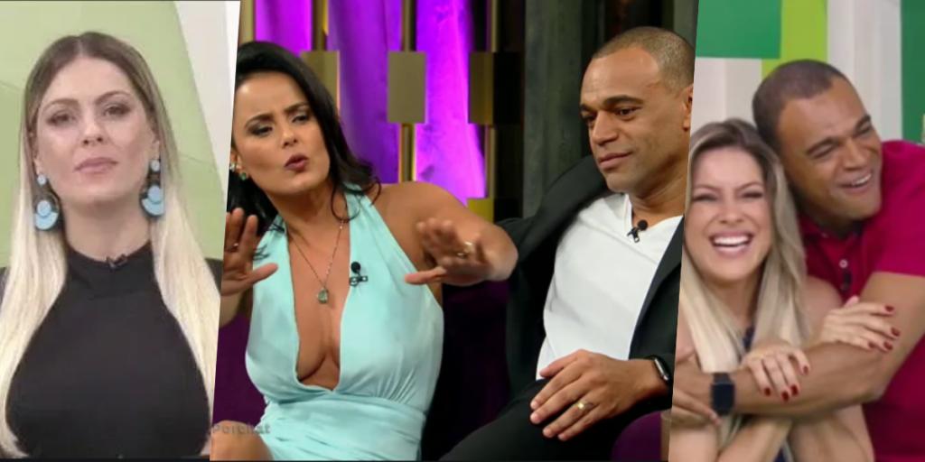 Renata Fan e Denilson tiveram verdadeira relação exposta (Foto montagem: TV Foco)