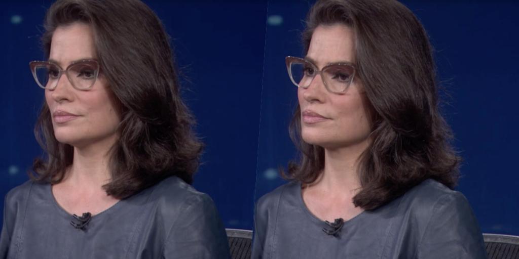 Renata Vasconcellos que comanda o Jornal Nacional foi pega desprevenida e ao vivo (Foto montagem: TV Foco)