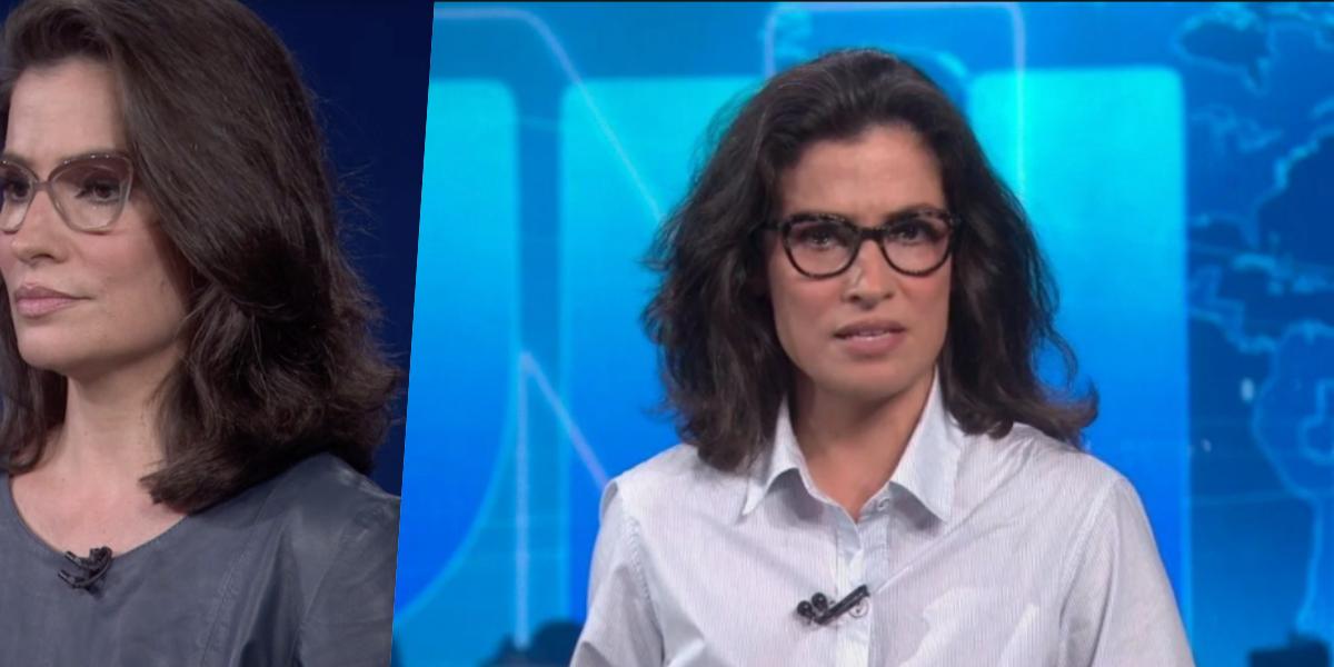 Jornal Nacional da Globo é comandado por Renata Vasconcellos (Foto reprodução)