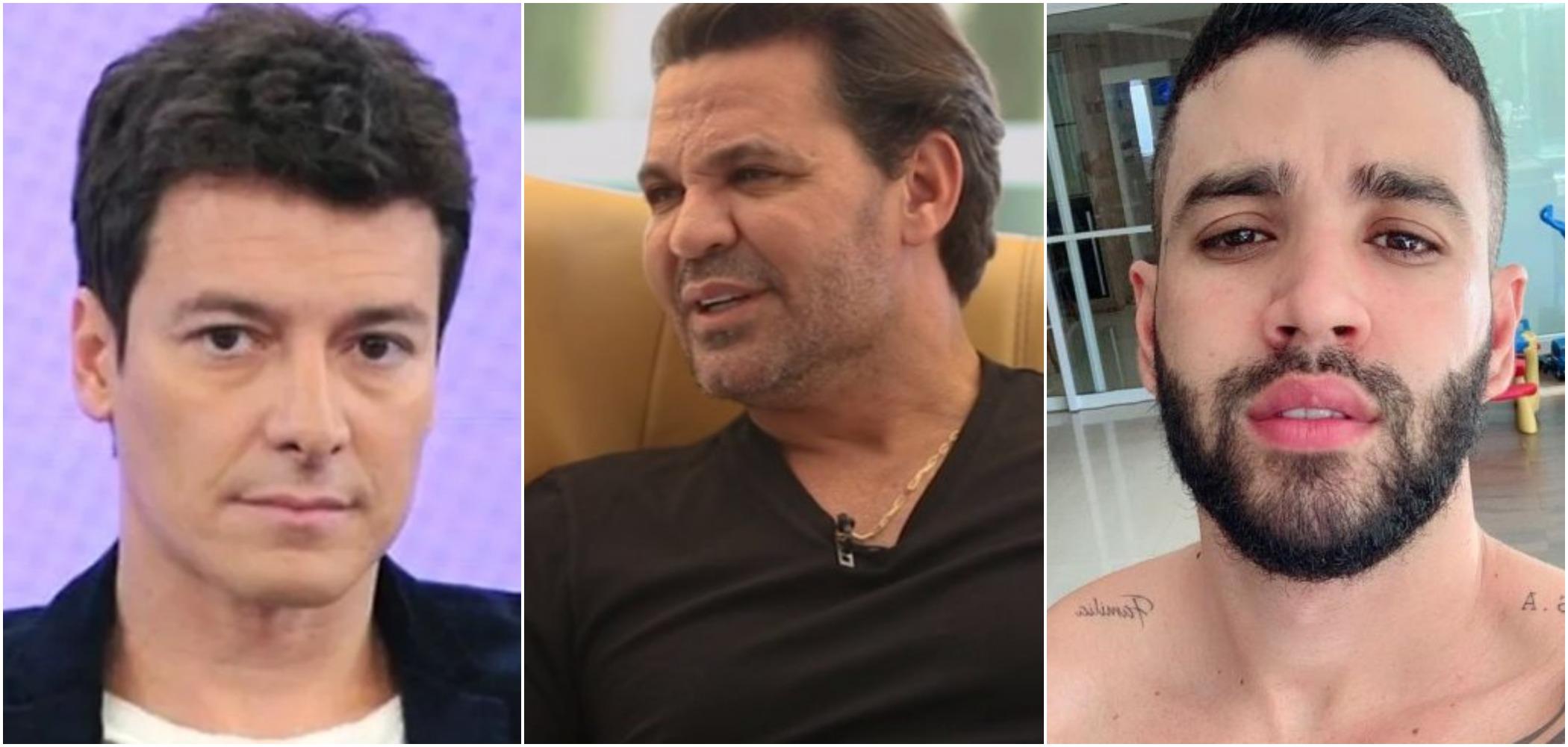 Rodrigo Faro, Eduardo Costa e Gusttavo Lima (Reprodução)