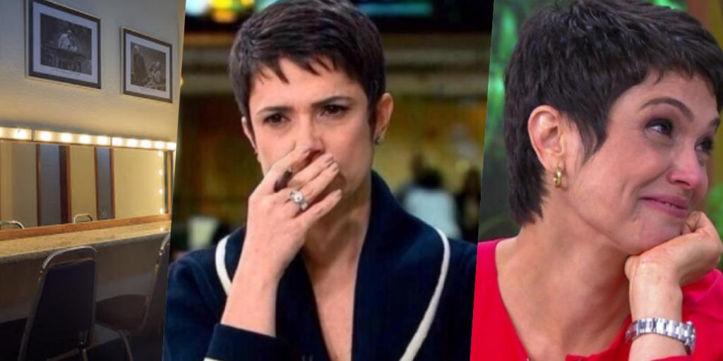 Sandra Annenberg não estaria nem um pouco feliz com atual situação na Globo (Foto montagem)