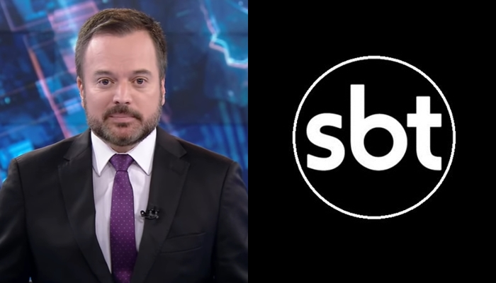 Marcelo Torres no comando do SBT Brasil; apresentador foi diagnosticado com coronavírus (Foto: Reprodução/SBT)