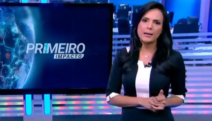 Márcia Dantas também é apresentadora do Primeiro Impacto (Foto: Reprodução/SBT)