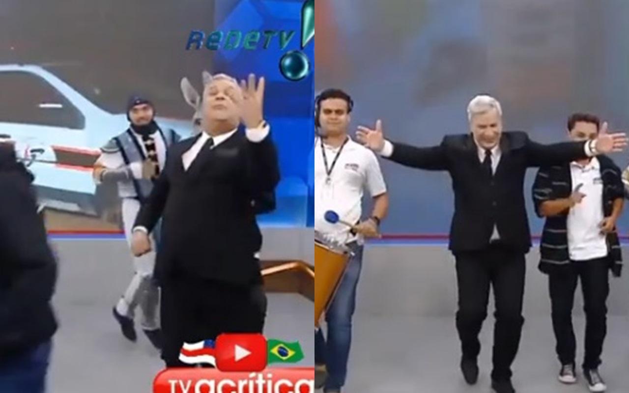 Sikêra Jr. comemorou mortes ao vivo em seu programa (Foto: reprodução/RedeTV!)
