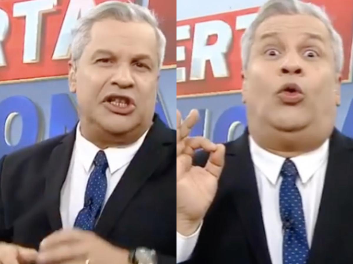 O âncora do Alerta Nacional da RedeTV!, Sikêra Jr voltou a dar o que falar (Foto: Reprodução/Montagem TV Foco)