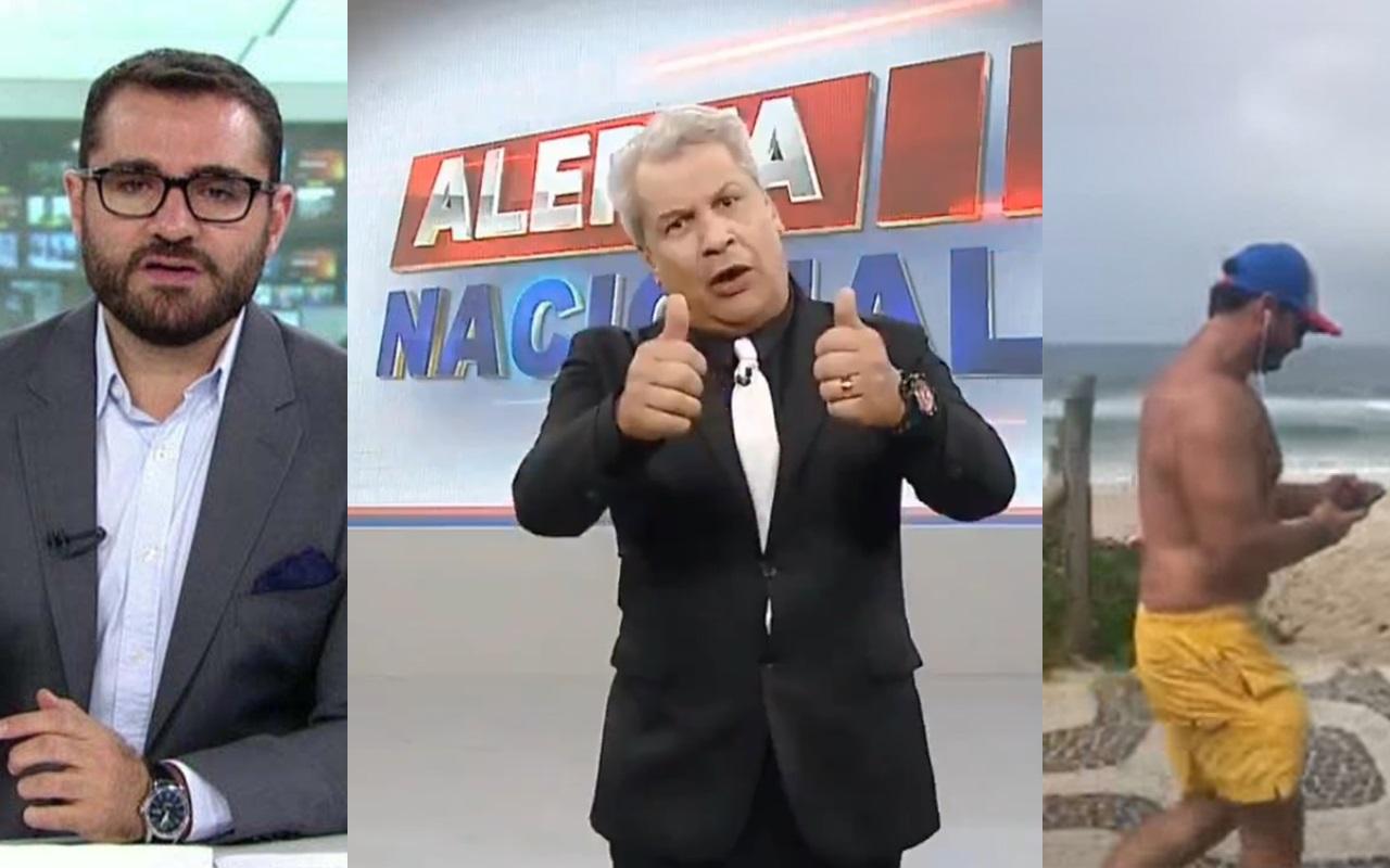 Sikêra Jr. rasga o verbo contra jornalista (Foto: Montagem TV Foco)
