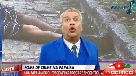 Sikêra Jr. se descontrolou durante programa e fez pedido inusitado (Foto: reprodução/RedeTV!)