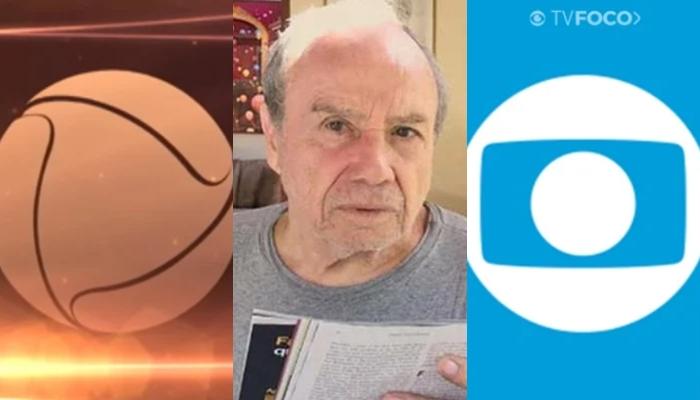 Stênio Garcia foi sondado pela Record após ser dispensado pela Globo (Foto: Reprodução/Globo/Record/Montagem TV Foco)