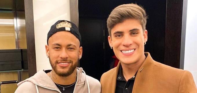 Neymar e Tiago Ramos tem uma boa relação (Foto: Reprodução)