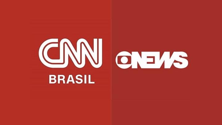 CNN Brasil perde para GloboNews na audiência por grande vantagem (Foto: Reprodução/Montagem)
