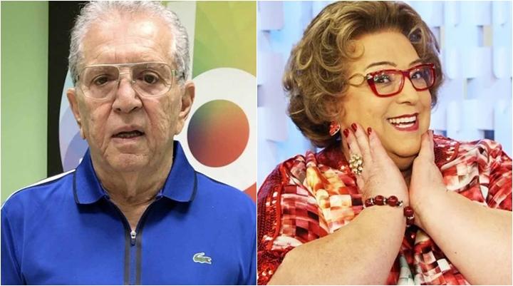 Carlos Alberto de Nóbrega e Mamma Bruschetta já defenderam Moacyr Franco. (Foto: Montagem/Divulgação)