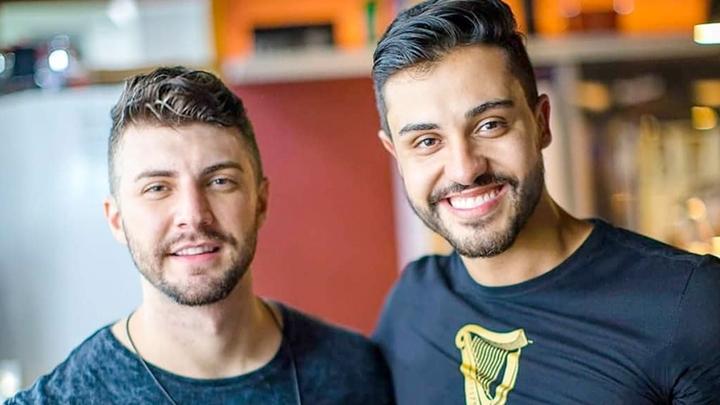 Leandro e Romani gravará música com Flayslane. (Foto: Divulgação)