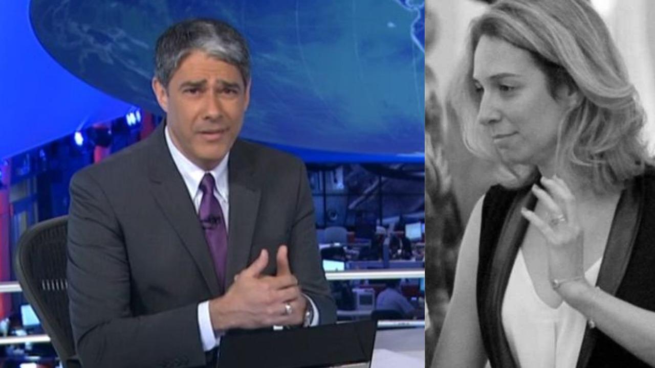 William Bonner é casado com Natasha Dantas (Foto: Reprodução/TV Globo/AgNews)