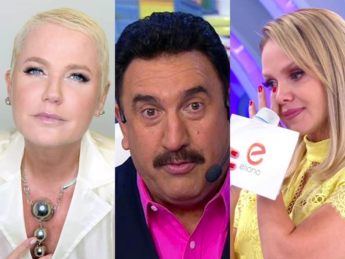 Eliana perde posto no SBT, Ratinho é levado às pressas para cirurgia e Xuxa tira Huck da Globo; diz sensitiva (Foto: reprodução/Montagem TV Foco)