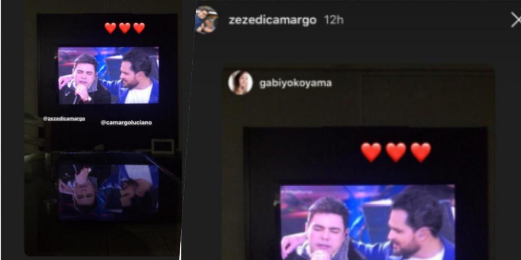 Zezé republicou foto com o irmão (Foto montagem)