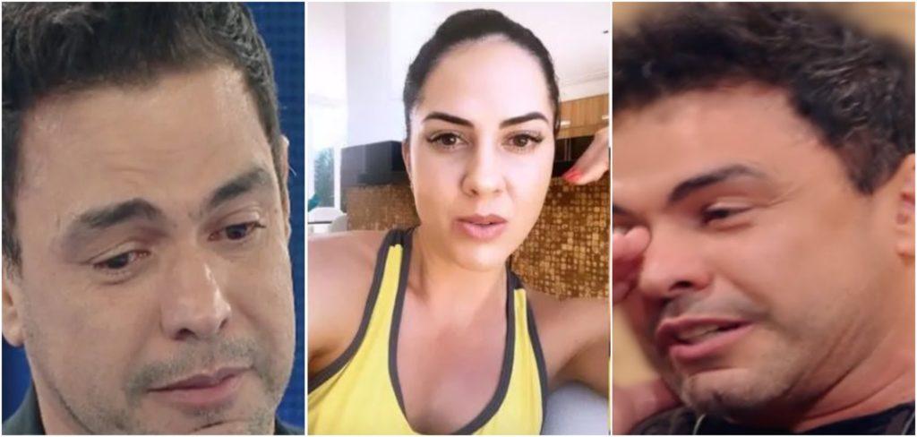 Zezé e Graciele Lacerda viraram alvo de ataque da ex-mulher de Luciano (Foto montagem)