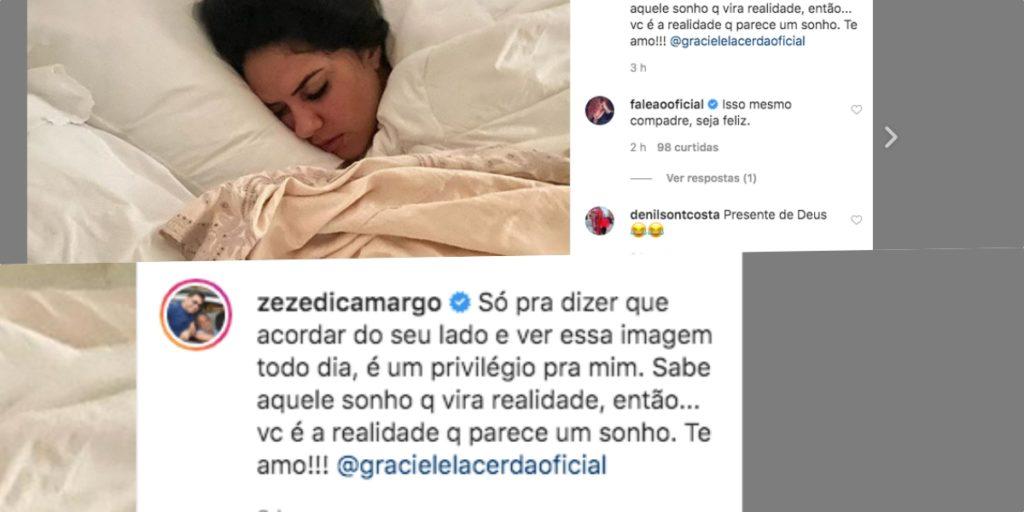 Graciele Lacerda e Zezé estão em festa com mais um ano juntos (Foto montagem)