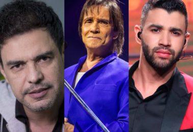 Zezé Di Camargo, Roberto Carlos e Gusttavo Lima recebem previsões arrasadoras (Foto: Reprodução/Montagem TV Foco)