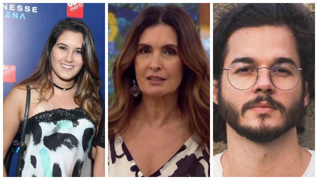 Bia Bonemer, Fátima Bernardes e Túlio Gadelha (Foto: Reprodução)