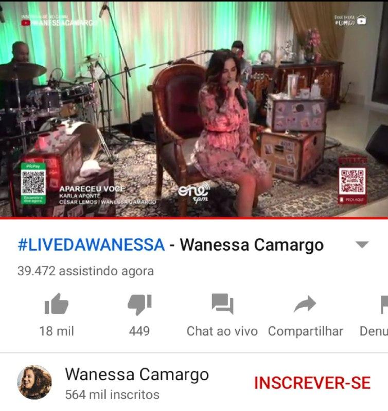 Live de Wanessa obteve poucas visualizações (Foto: Reprodução)