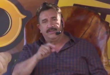 Ratinhou falou que não podia beber ao vivo na live e mencionou de forma indireta a confusão com Gusttavo Lima (Foto: Reprodução)
