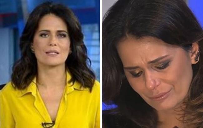 Adriana Araújo está afastada do comendo do Jornal da Record (Foto: Reprodução)