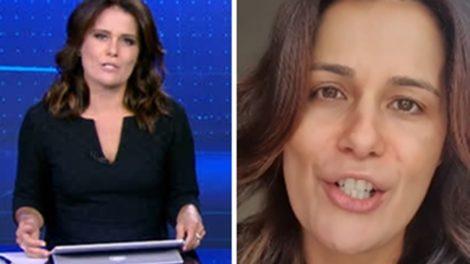 Adriana Araújo retornou para a bancada do Jornal da Record (Foto: Montagem/TV Foco)