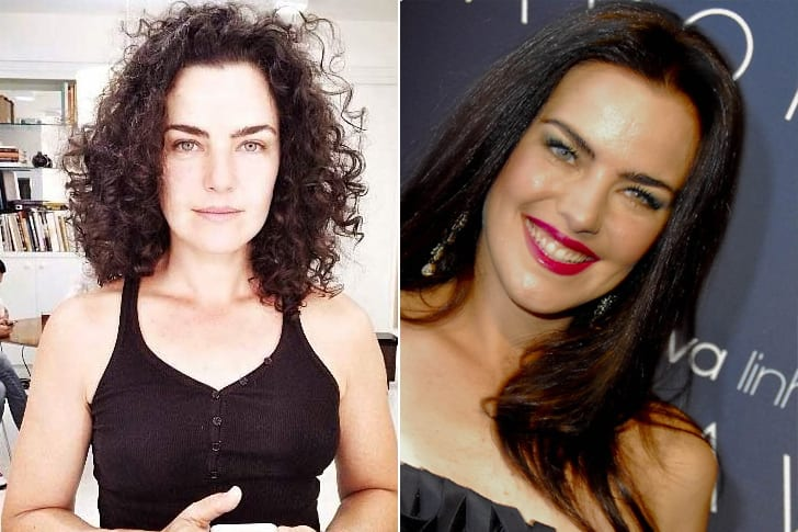 Ana Paula Arósio com e sem maquiagem (Foto: Montagem)
