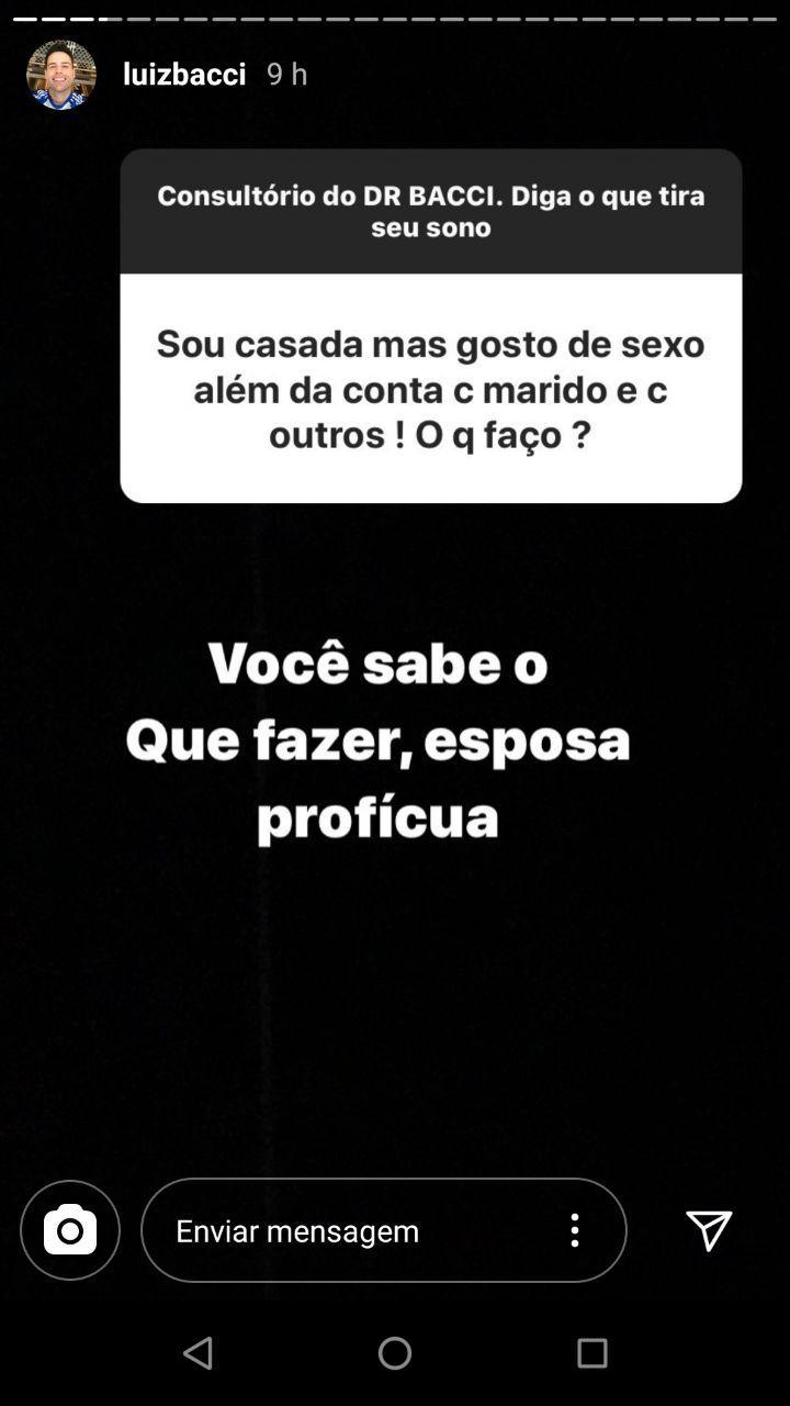 Luiz Bacci responde perguntas no Instagram (Foto: Instagram)