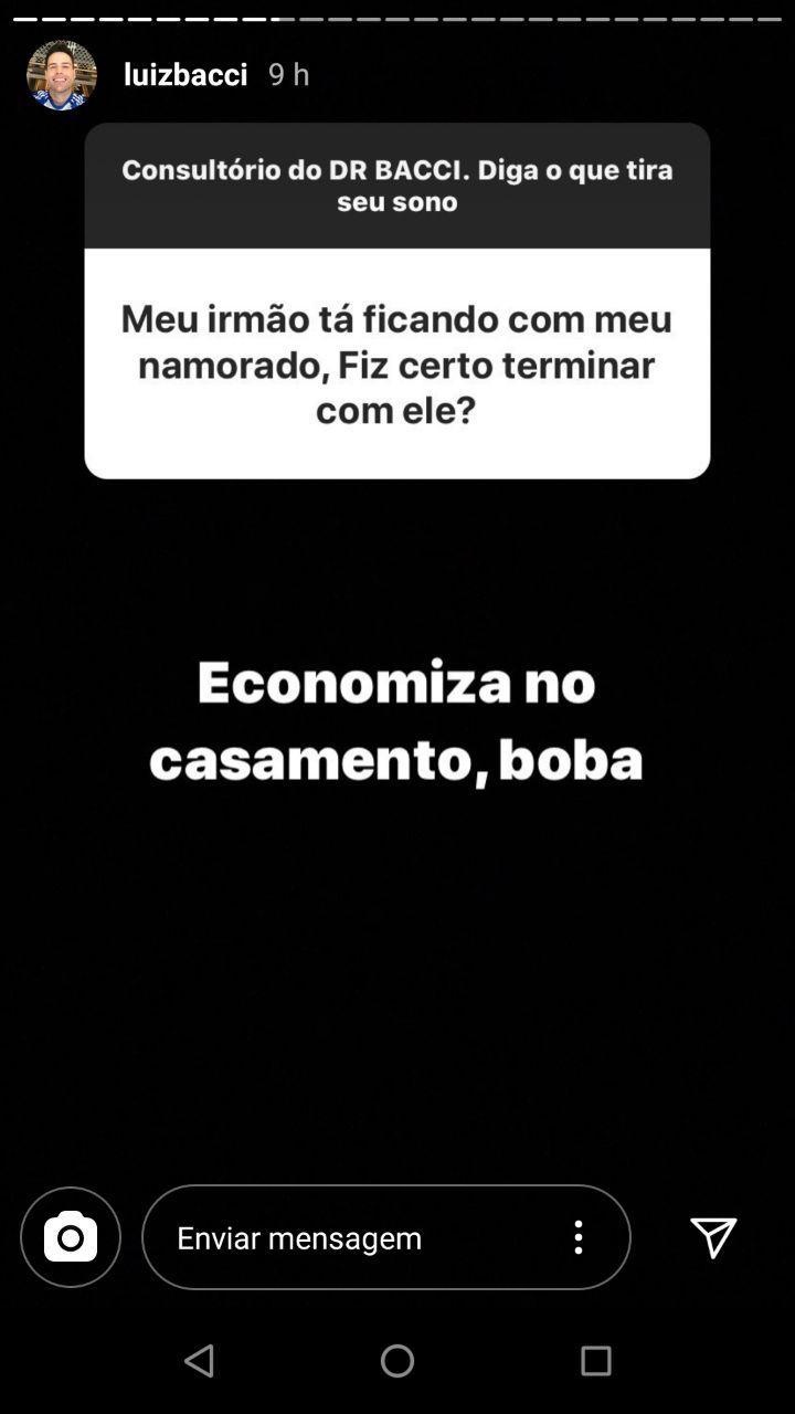 Luiz Bacci responde perguntas no Instagram e deixa conselhos (Foto: Instagram)