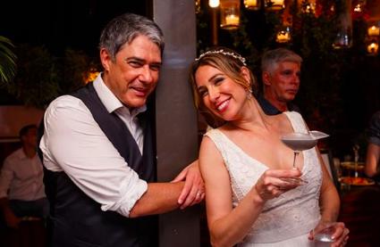 William Bonner e Natasha Dantas em seu casamento (Foto: Reprodução/Instagram) Globo
