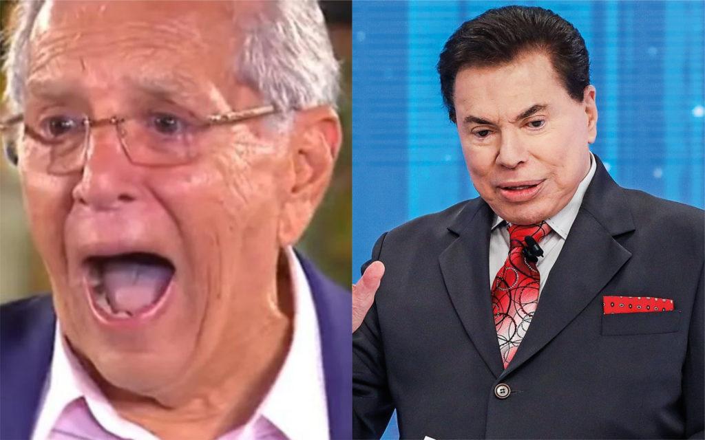 Carlos Alberto de Nóbrega e Silvio Santos (Foto: TV Foco)