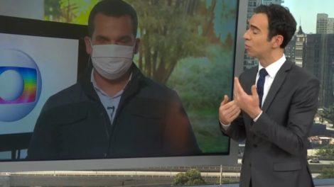 César Tralli se revolta ao vivo com reabertura da cidade
