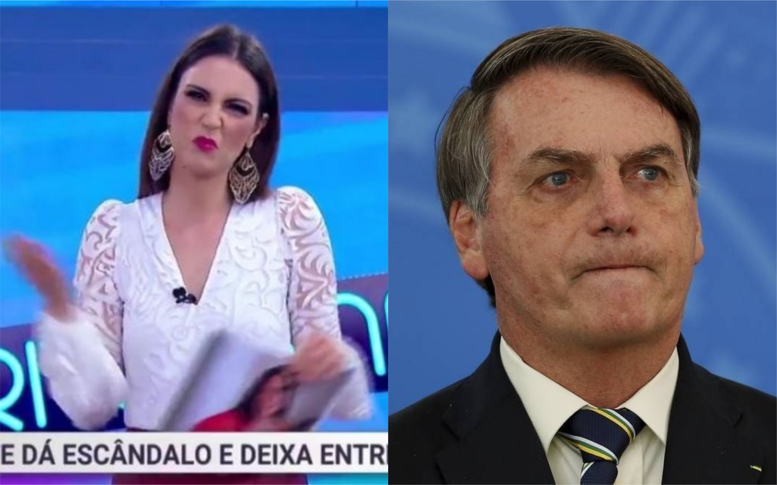Chris Flores foi atacada por apoiadores de Bolsonaro (Foto: Divulgação / TV Foco)