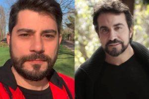 Evaristo Costa e o Padre Fábio de Mello (Foto: Montagem/TV Foco)