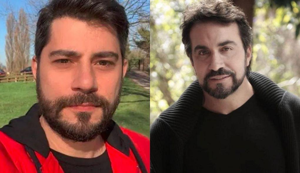 Evaristo Costa e o Padre Fábio de Melo (Foto: Montagem/TV Foco)