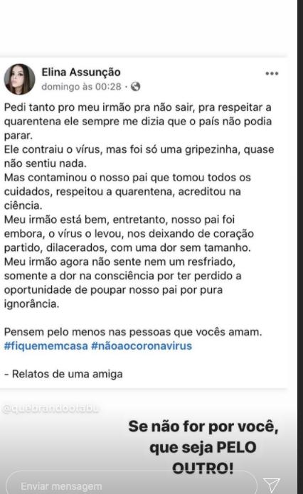 Fernanda Souza compartilha triste relato (Foto: Reprodução)