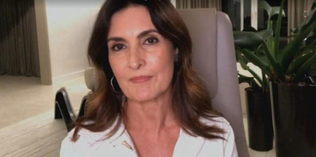 Globo: Fátima Bernardes durante participação no programa Saia Justa do GNT (Foto: Reprodução)