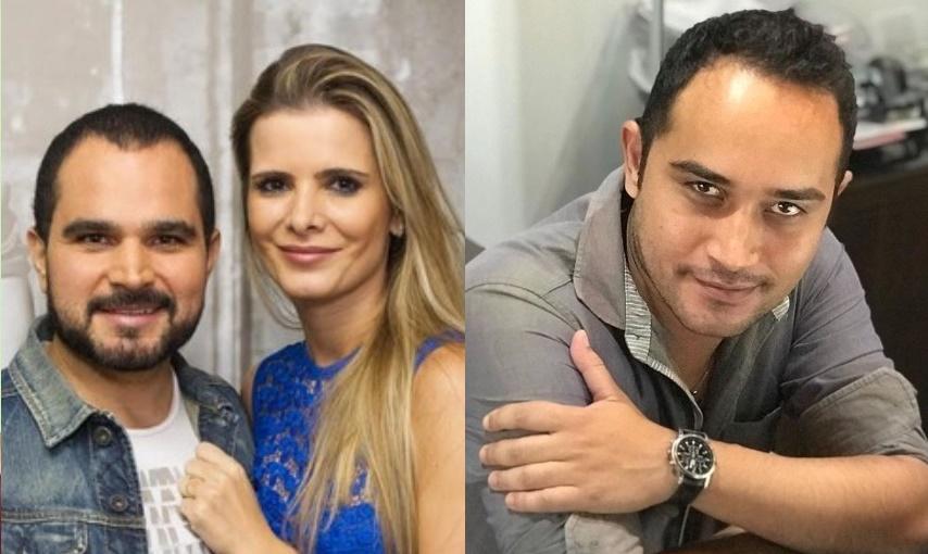 Flavia Camargo ignorou filho mais velho de Luciano Camargo, Wesley Loyola, via rede social (Foto: Montagem)