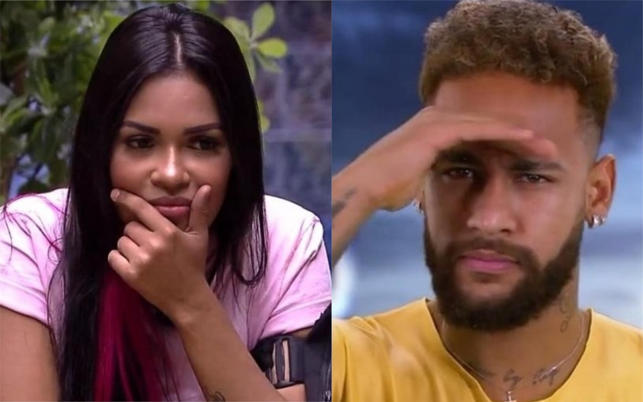 Flayslane do BBB20 e Neymar Jr (Foto: Divulgação)