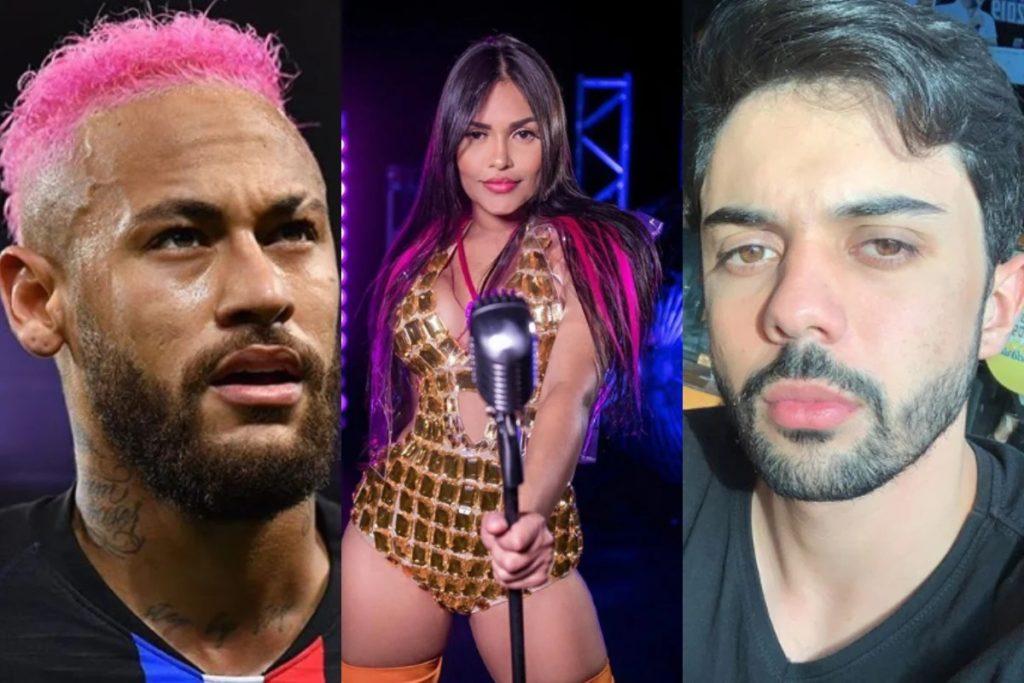 Neymar, Flayslane e Jhonatan Ricarte (Foto: Montagem)