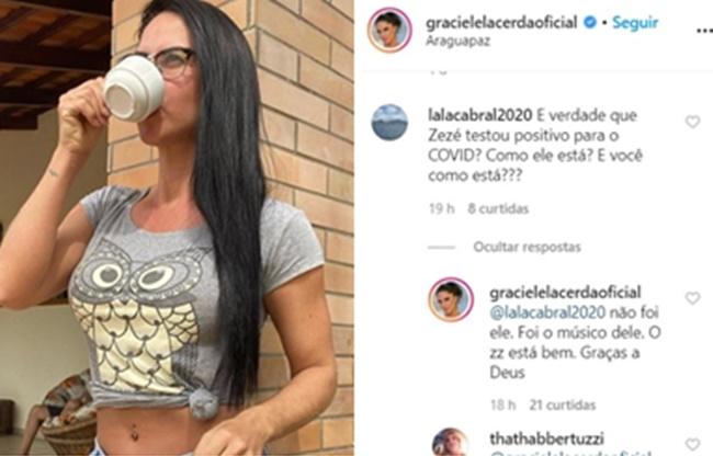Publicação de Graciele Lacerda (Foto: Montagem/TV Foco)