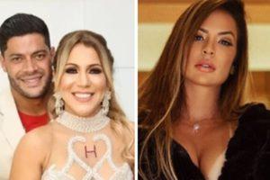 Hulk viveu affair com atriz enquanto ainda era casado com Iran Ângelo (Foto: Montagem/TV Foco)