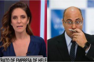 Monalisa Perrone chamou a atenção do governador Wilson Witzel ao vivo na CNN Brasil. (Foto: Montagem/Reprodução)
