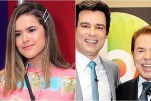 """Maisa participou de vídeo em que Celso Portiolli """"imita"""" Silvio Santos. (Foto: Montagem/Reprodução)"""