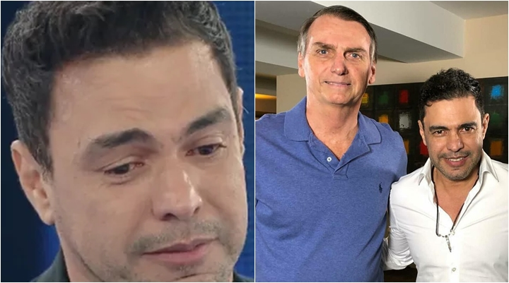 Zezé Di Camargo demonstrou apoio a Bolsonaro. (Foto: Montagem/Reprodução)