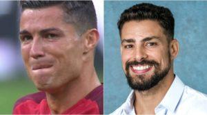 Cristiano Ronaldo compartilhou novo visual e foi zoado por Cauã Reymond. (Foto: Montagem/Divulgação)