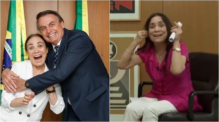 Regina Duarte é secretária de cultura do governo Bolsonaro. (Foto: Montagem/Reprodução)