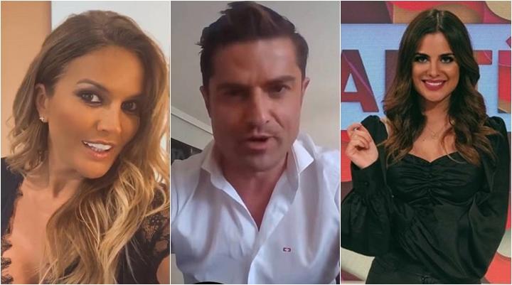 Âncora Alfonso Merlos é acusado de trair a namorada Marta López (à esq.) com a jornalista Alexia Rivas. (Foto: Montagem/Reprodução)